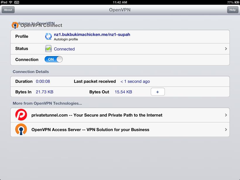 IOS OpenVPN Setup, iPhone / iPad / iPod Touch - Getting